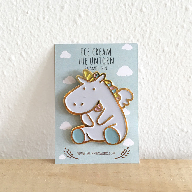 Ice Cream the Unicorn Pin
