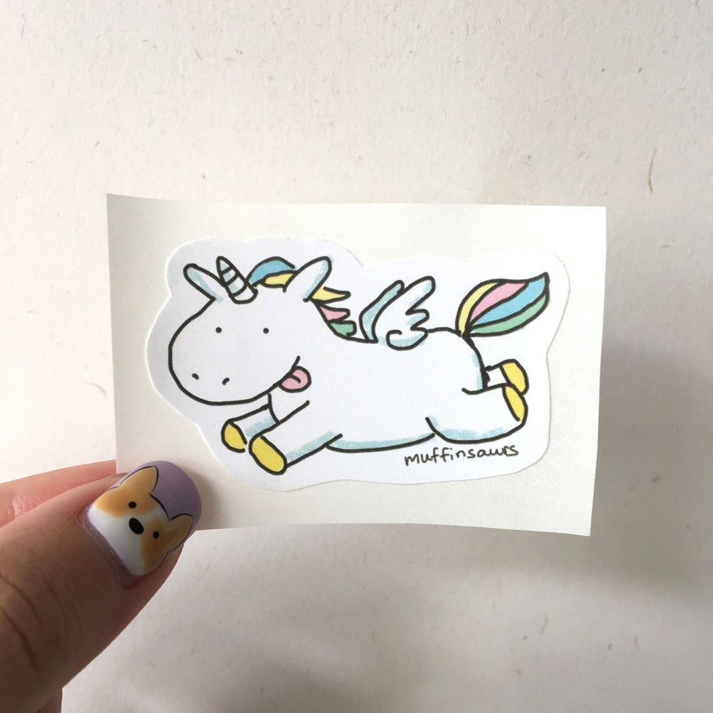 Ice Cream the Unicorn Sticker