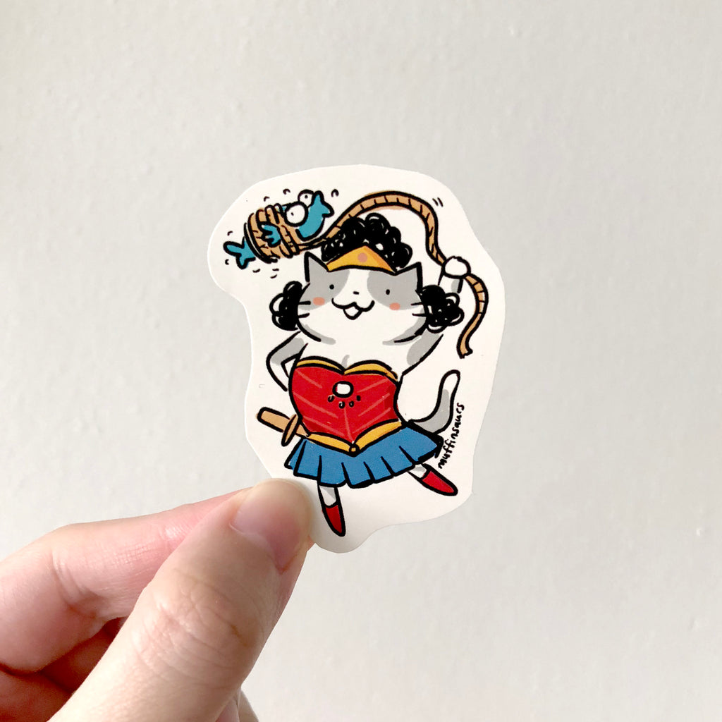 Wonder Cat Sticker