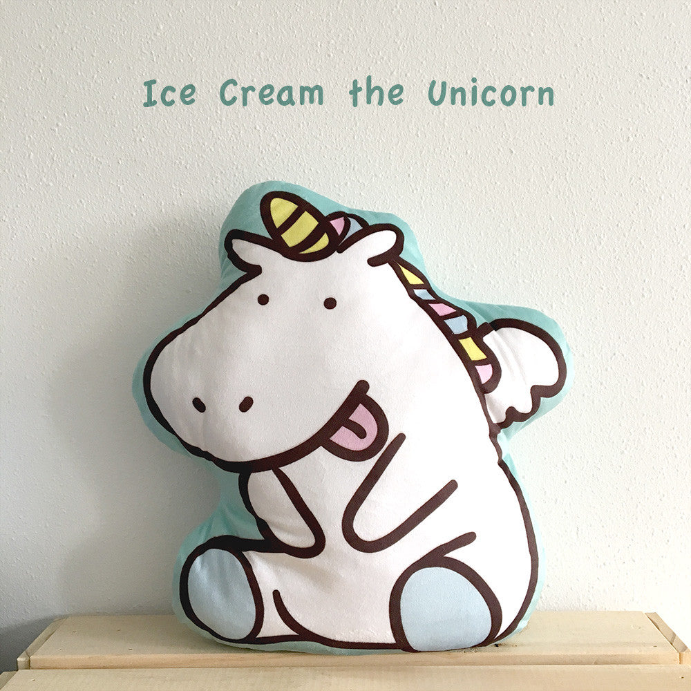 Ice Cream the Unicorn Cushion