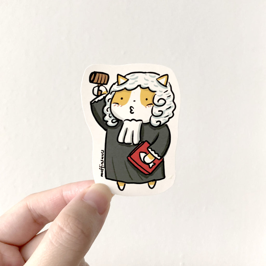 Judge Cat Sticker