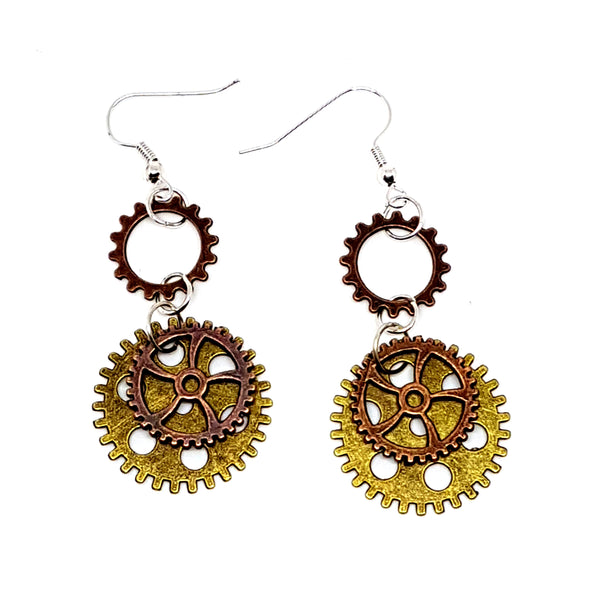 Steampunk Cog Earrings