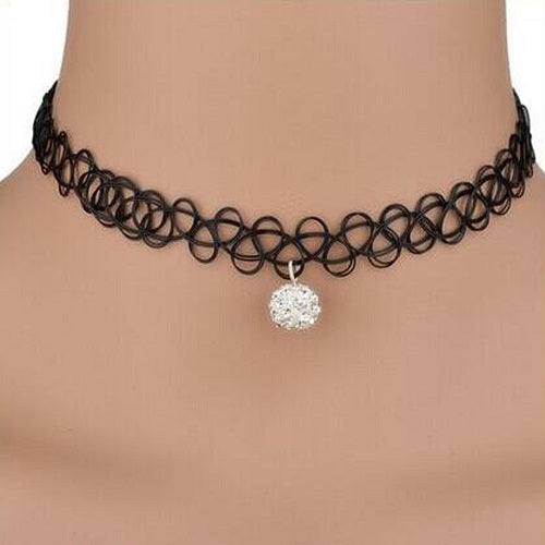 Tattoo Style Choker Necklace