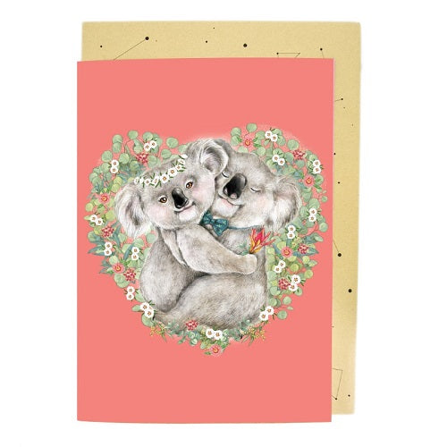 Large Card: Koala Couple