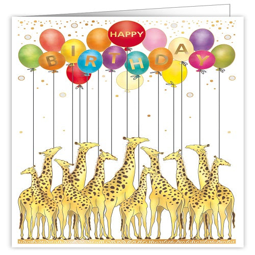 Large Card : Happy Birthday Giraffes