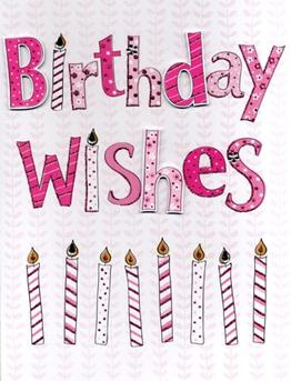 Large Card : Birthday Wishes