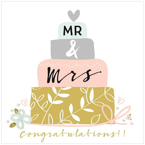 Large Card: Mr & Mrs