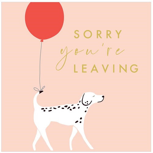 Large Card: Sorry You're Leaving - Dog