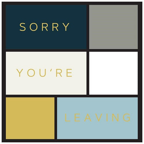 Large Card: Sorry You're Leaving - Blocks