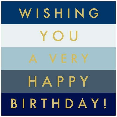 Large Card: Wishing you a very Happy Birthday! - Blue