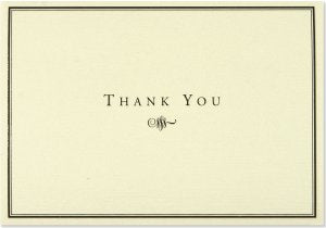 Thank You Card Set - Black and Cream