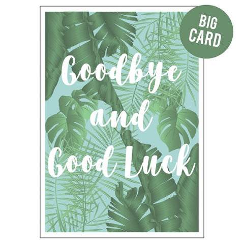 Large Card : Goodbye Palms