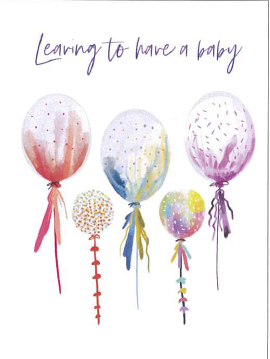 Large Card : Leaving to Have a Baby - Balloons