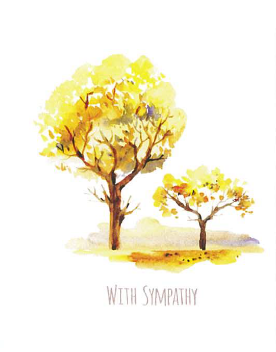 Large Card : With Sympathy - Two Trees