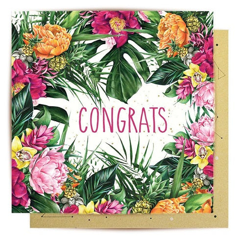 Congrats - Tropical Flora