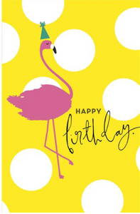 Large Card : Flamingo