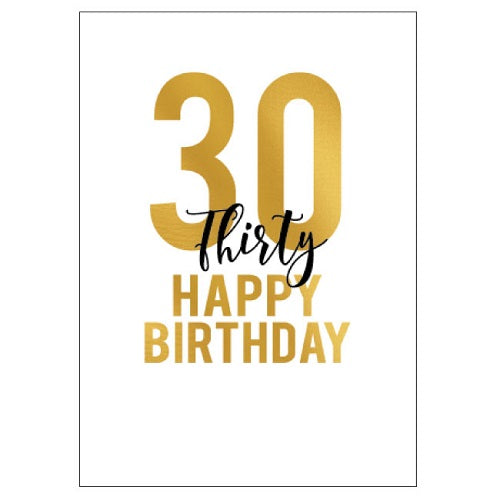 Large Card : 30 Happy Birthday