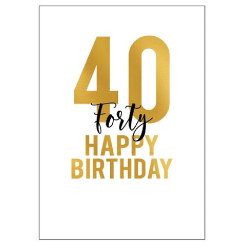 Large Card : 40 Happy Birthday
