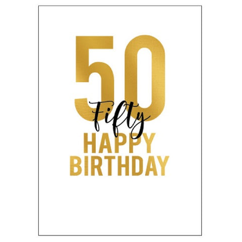 Large Card : 50 Happy Birthday