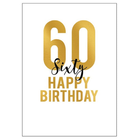 Large Card : 60 Happy Birthday