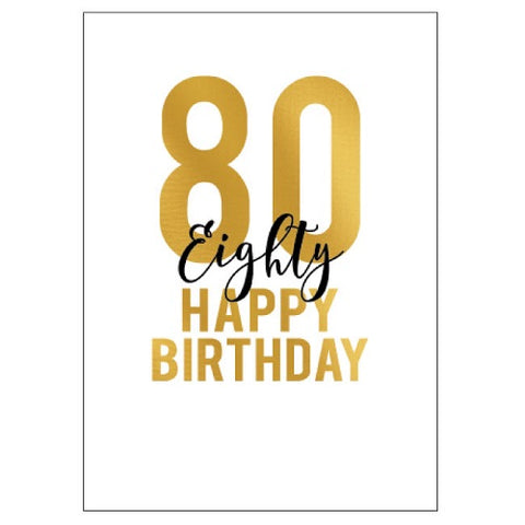 Large Card : 80 Happy Birthday