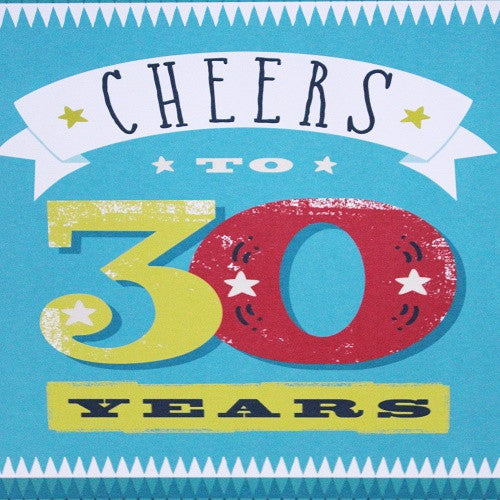 Large Card - Cheers to 30 years