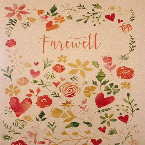 Large Card: Farewell - Flowers