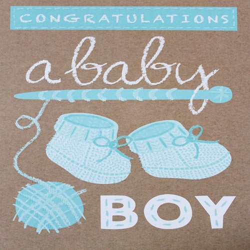 Large Card : Congratulations a baby boy