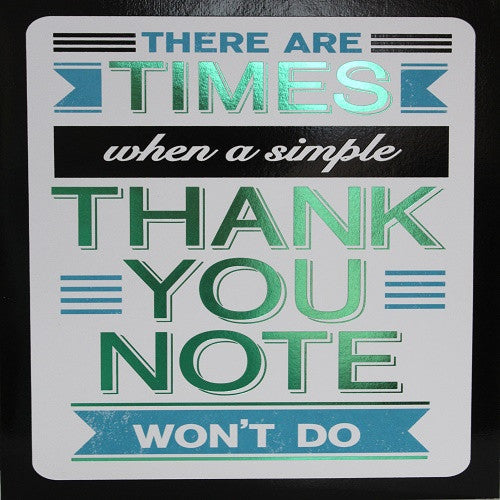 Large Card : Simple Thank You Note