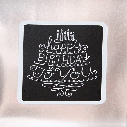 Large Card : Happy Birthday to you - Silver