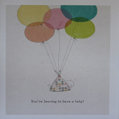 Large Card : You're Leaving to have a baby - Hallmark Balloons