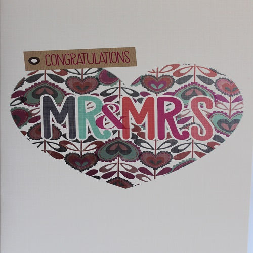 Large Card : Congratulations Mr & Mrs