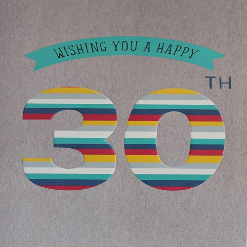 Large Card : Wishing you a happy 30th