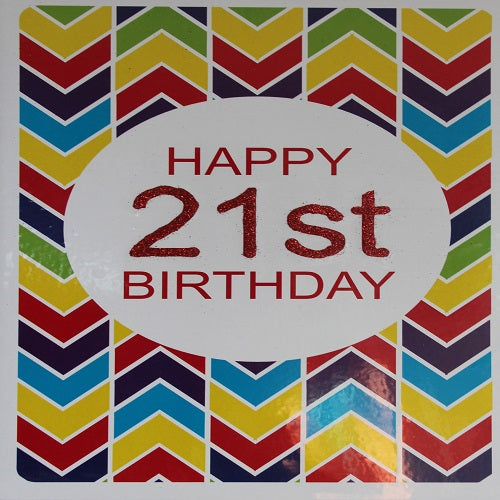 Large Card : Happy 21st Birthday