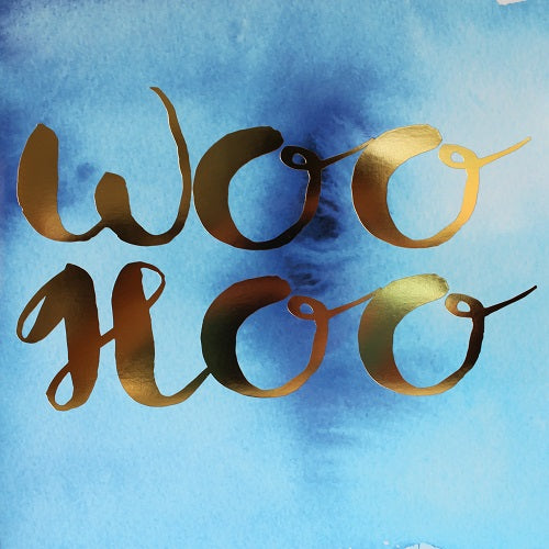 Large Card - Woo Hoo - Blue