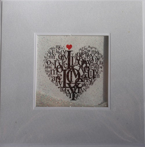 Glitter Card - Love Heart