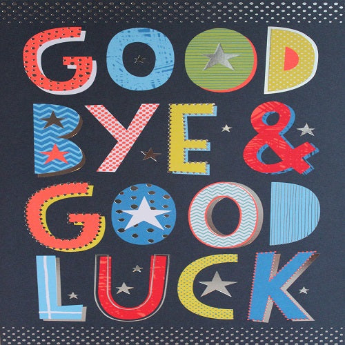 Large Card : Good Bye & Good Luck