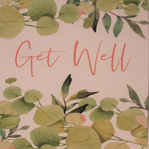 Large Card : Get Well - Leaves