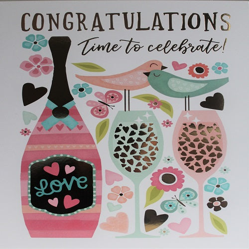 Large Card : Congratulations Time to Celebrate!