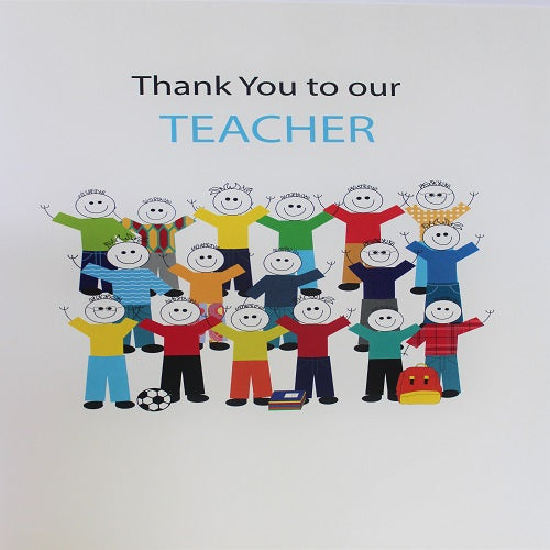 Large Card : Thank you to our Teacher - Boys