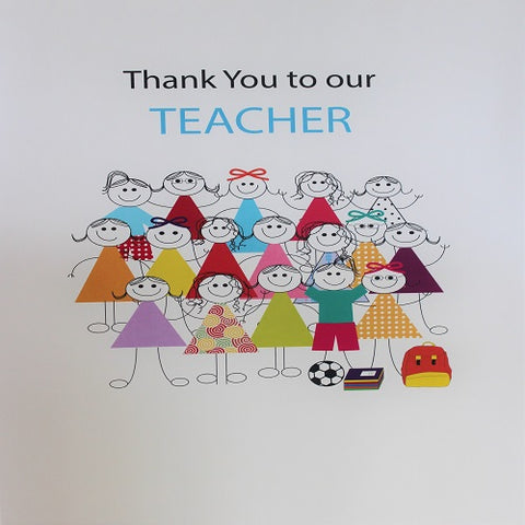 Large Card : Thank you to our Teacher - Girls