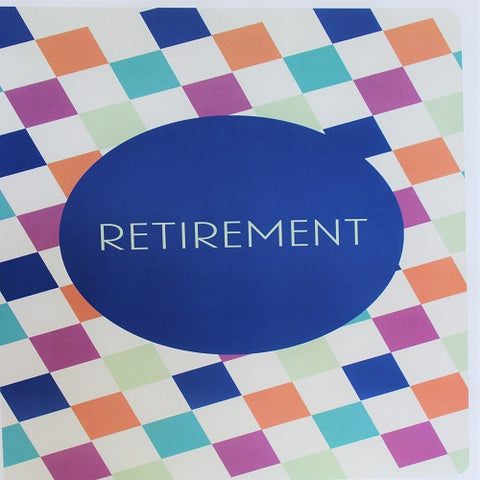 Large Card : Retirement - Diagonal Square Print