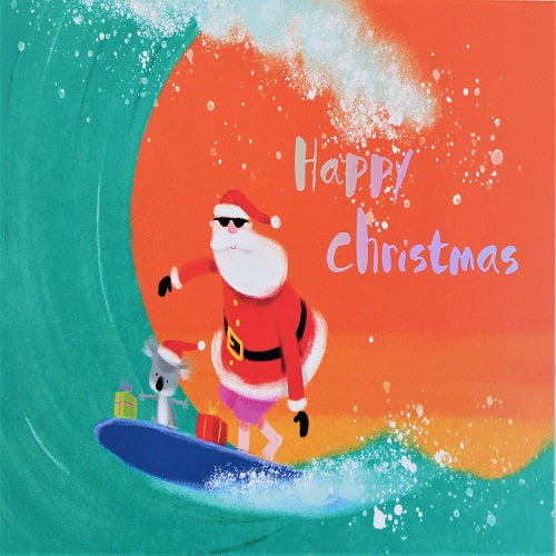 Charity Cards  - Surfing Santa