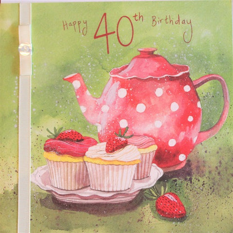 Large Card :  Happy 40th Birthday