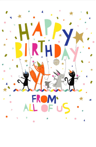 Groovy Large Card Happy Birthday From All Of Us Card King Personalised Birthday Cards Bromeletsinfo