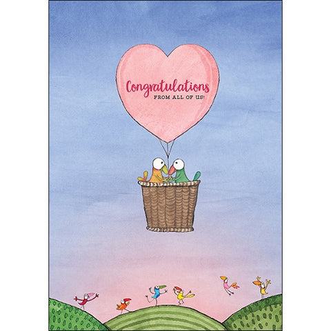Large Card: Congratulations from all of us
