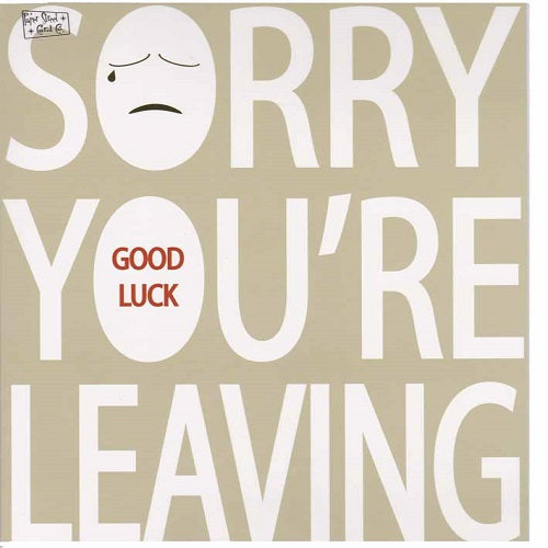 Large Card: Sorry you're leaving - Sad Face Paperstreet