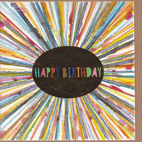 Large Card: Happy Birthday Rainbow