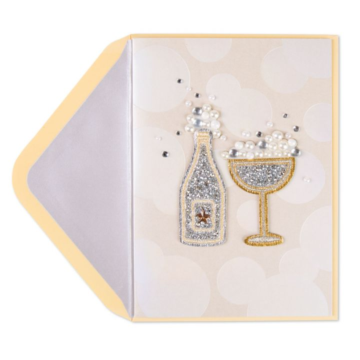 Champagne Bottle/Glass - Sticky Patch