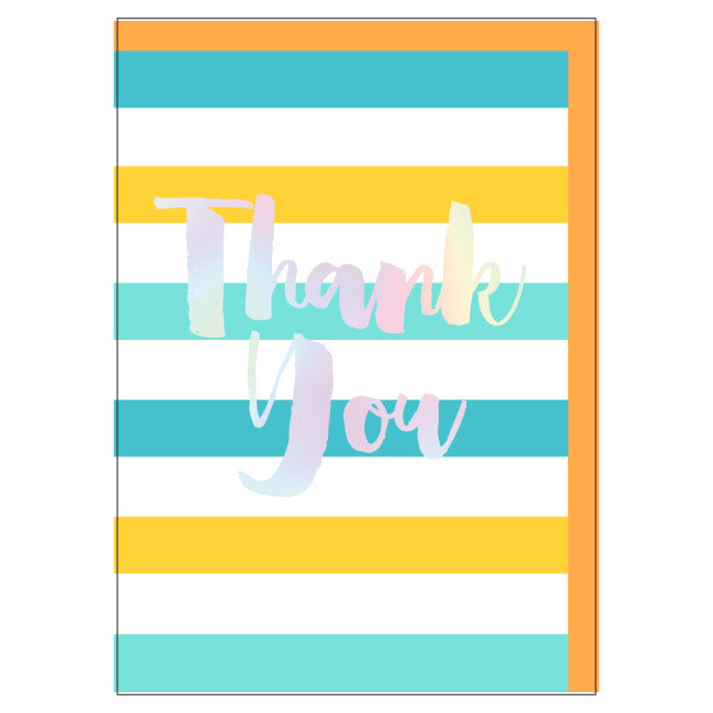 Large Card: Stripey Thank You